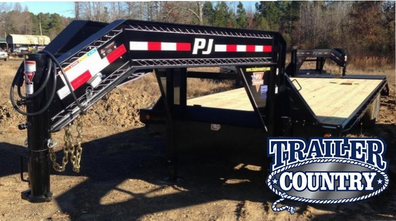 102x30 PJ Gooseneck Flatdeck with Monster Ramps