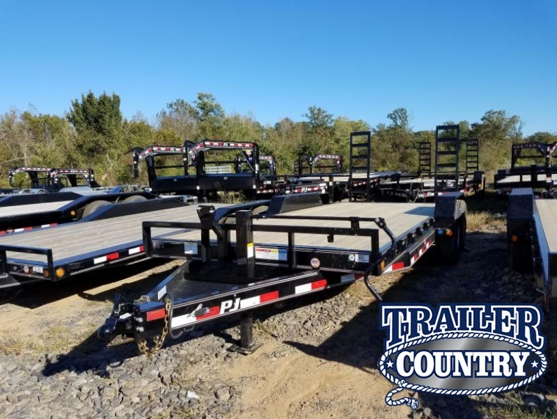 83x20 PJ Equipment Trailer-Fold Up Ramps-7K Axles