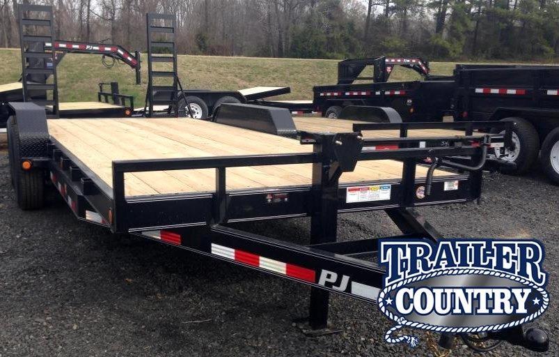 83x20 PJ Equipment Trailer-Fold Up Ramps