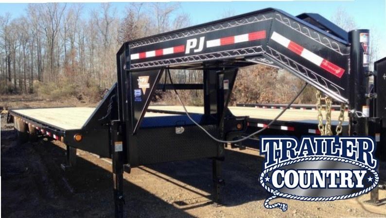 102x40 PJ Gooseneck Flatdeck-10K Duals-Monster Ramps-CLEARANCE