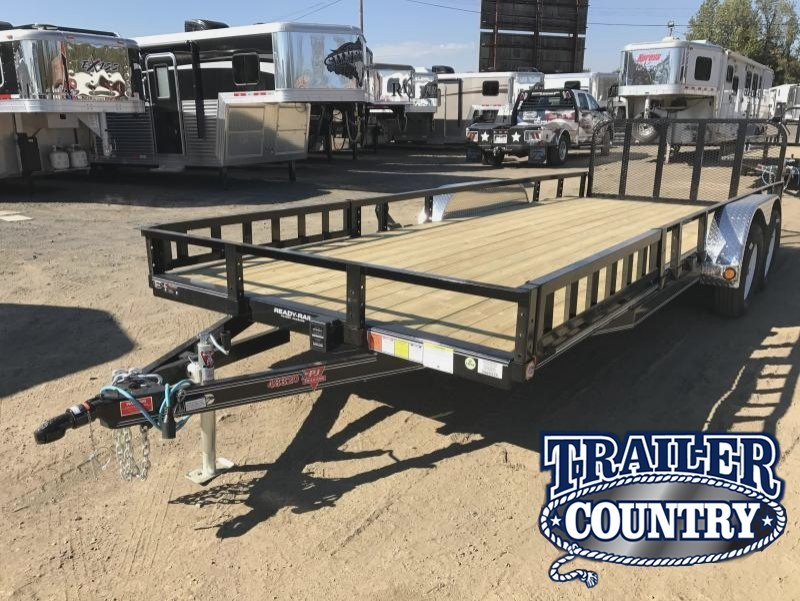 83x20 PJ Utility Trailer-Dovetail-Rear Gate-Side Ramps