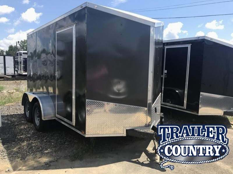 """6x12 Tandem Axle Enclosed Cargo Trailer-Charcoal-6'6"""" Height-CLEARANCE"""