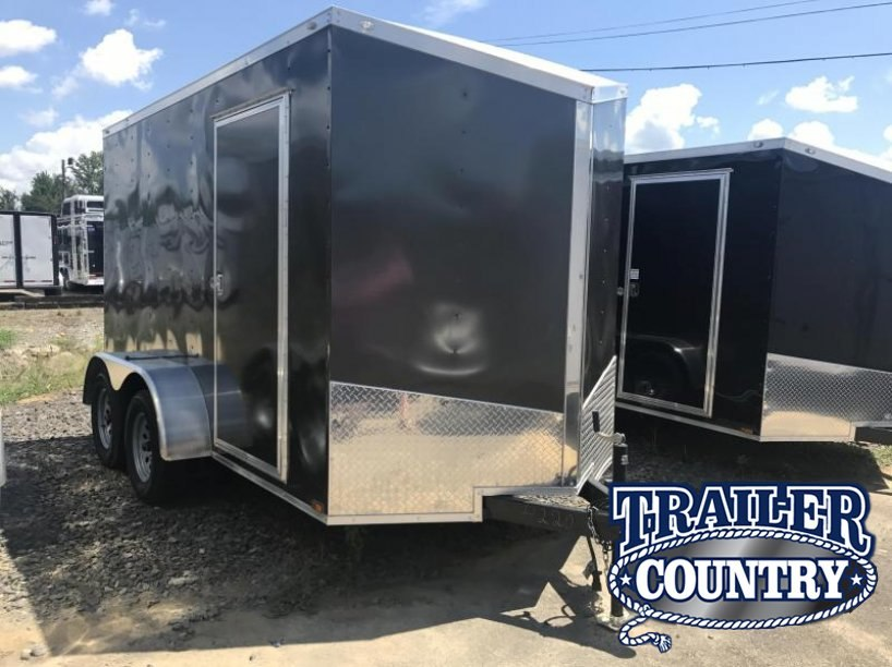 "6x12 Tandem Axle Enclosed Cargo Trailer-Charcoal-6'6"" Height"
