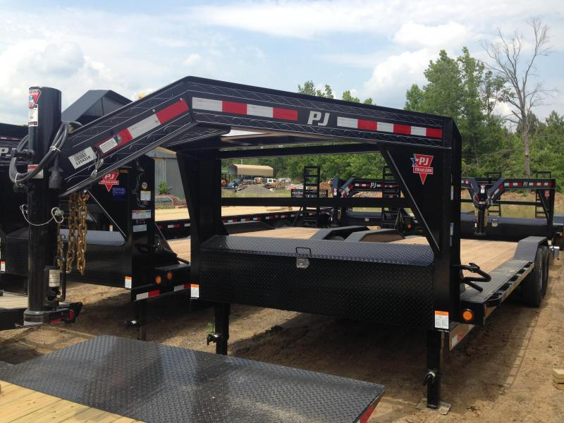 102x24 PJ Gooseneck Superwide Equipment Trailer-Slide In Ramps