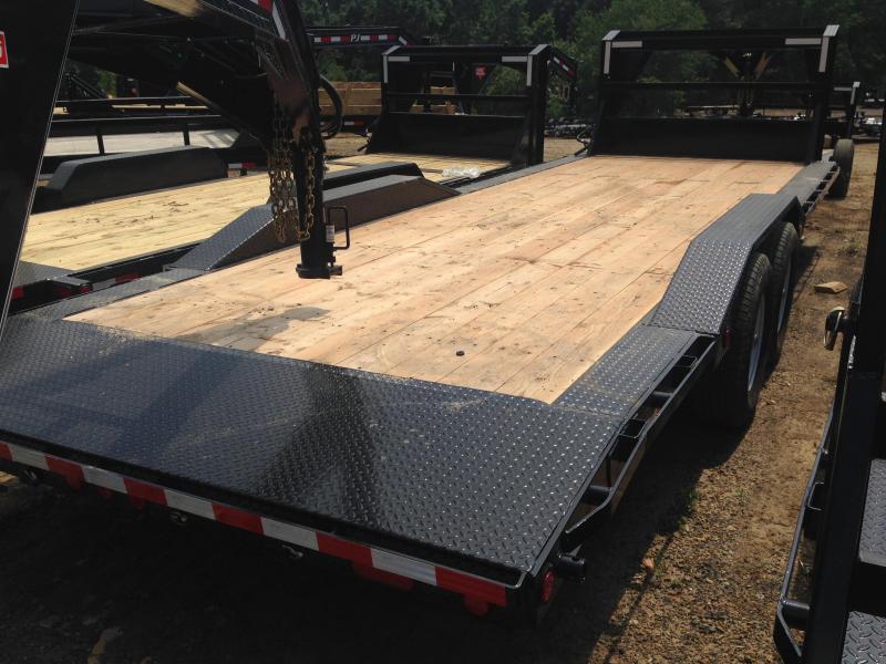 102x24 PJ Gooseneck Superwide Equipment Trailer-Slide In Ramps