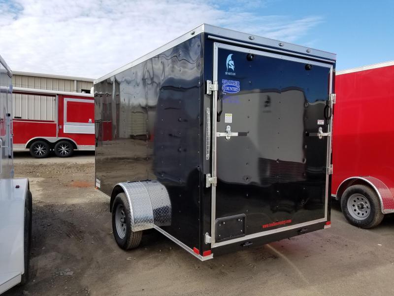 6x12 Spartan SA Cargo-3500lb axles-Ramp Door-Vnose