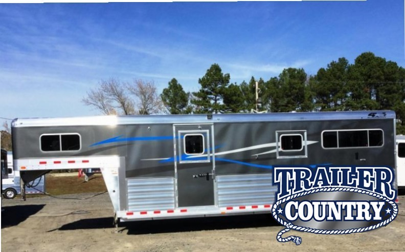 2018 4-Star Trailers RUNABOUT STRAIGHT LOAD 2 1 WITH FRONT TACK Horse Trailer