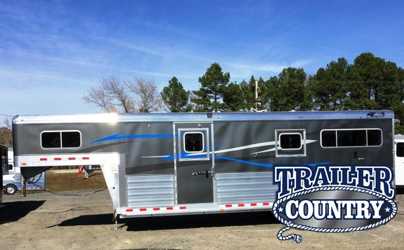 2018 4-Star Trailers RUNABOUT STRAIGHT LOAD 2 +1 WITH FRONT TACK Horse Trailer