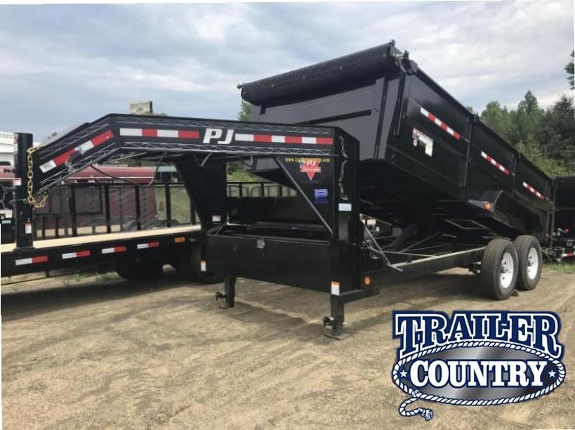 83x16 PJ Gooseneck High Side Dump-3' Sides-Tarp