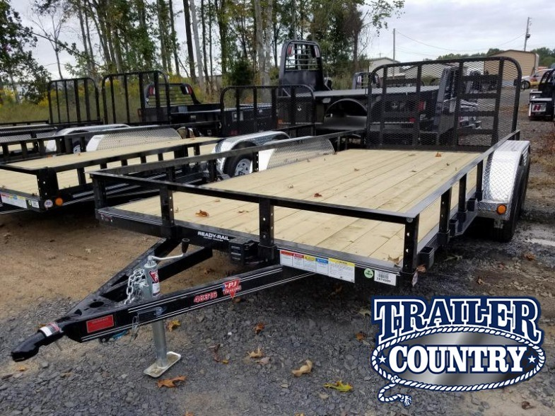 83x16 PJ Utility Trailer-Rear HD Gate-Dovetail