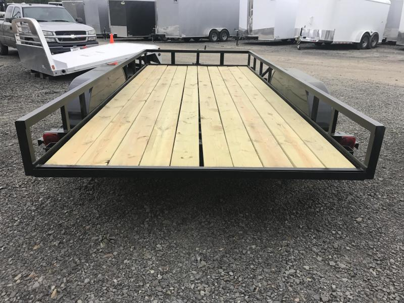 77x16 Precision Utility Trailer-Rear Ramps-CLEARANCE
