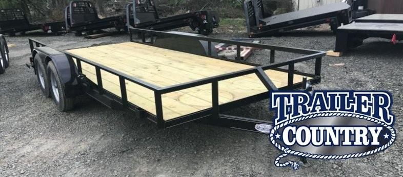 77x16 Precision Utility Trailer-Rear Ramps