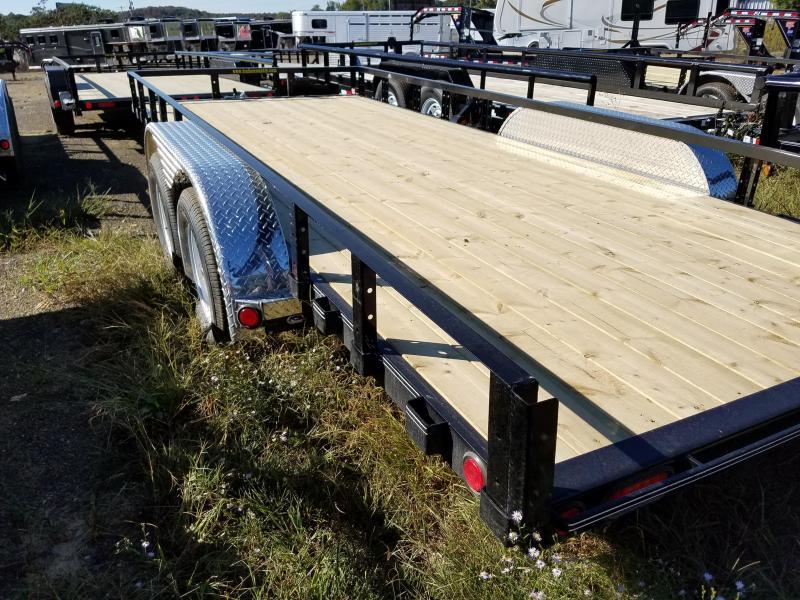 83x18 PJ Utility Trailer-Slide In Ramps