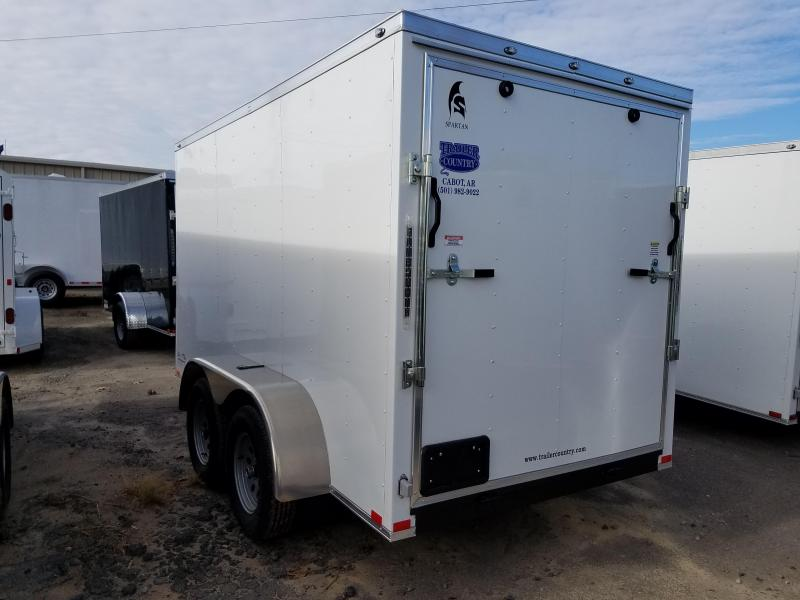 6x12 Tandem Axle Enclosed Cargo-3500lb axles Ramp Door V-Nose