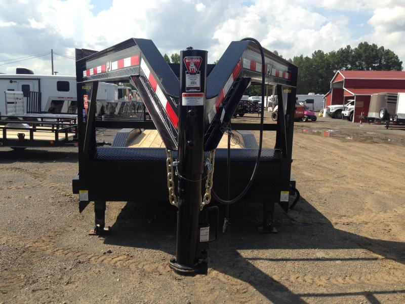 102x20 PJ Gooseneck Superwide Equipment Trailer-Fold Up Ramps-CLEARANCE