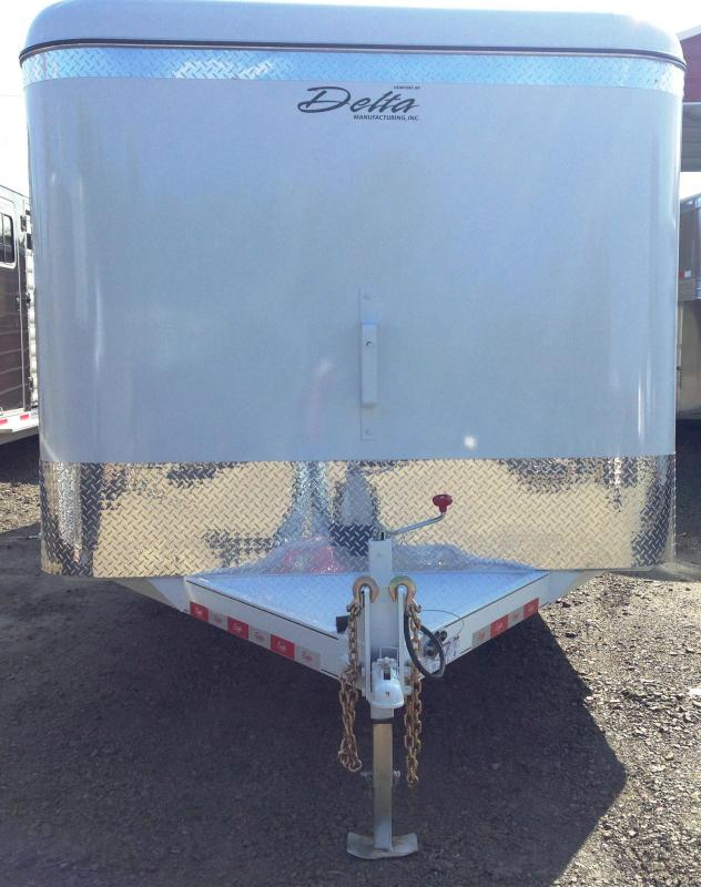 8x20 Delta All Steel Enclosed Cargo Trailer-Double Doors-CLEARANCE