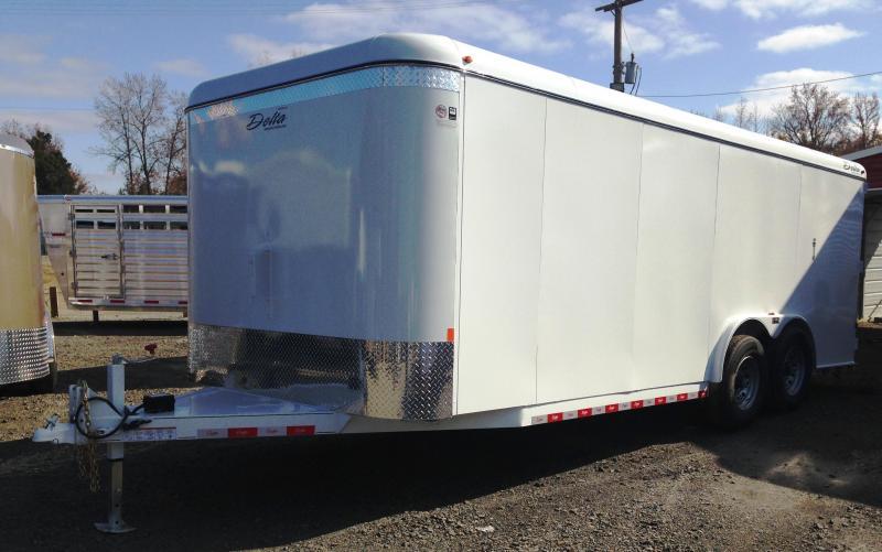 8x20 Delta All Steel Enclosed Cargo Trailer-Double Doors