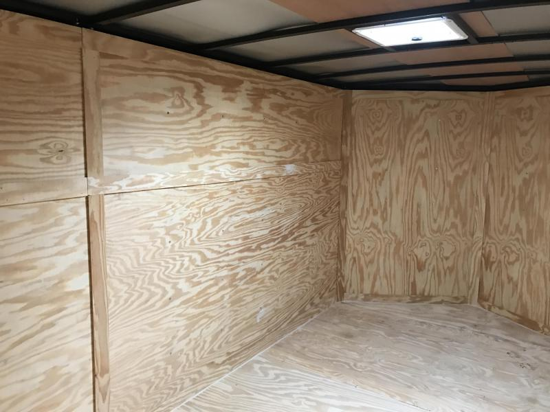 7x14 Enclosed Cargo Trailer-Black-Ramp door-CLEARANCE