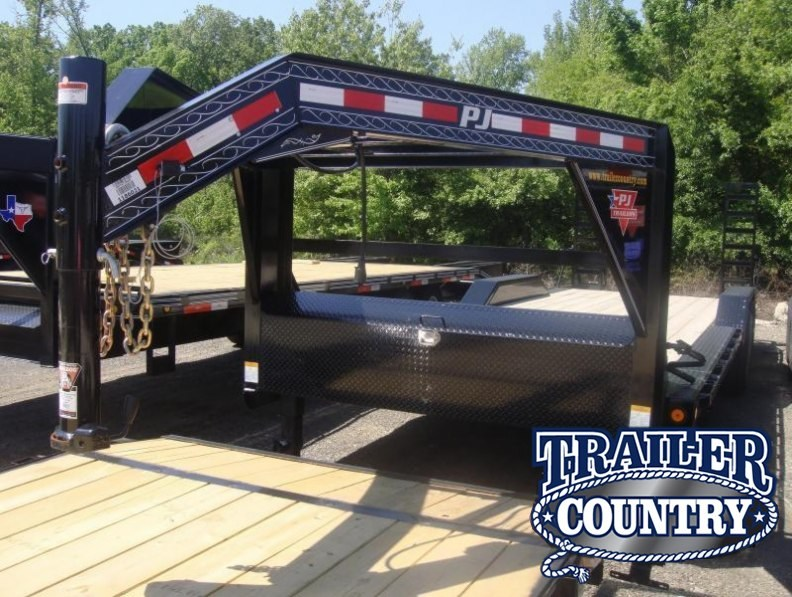 102x24 Gooseneck Superwide Equipment Trailer-Fold Up Ramps