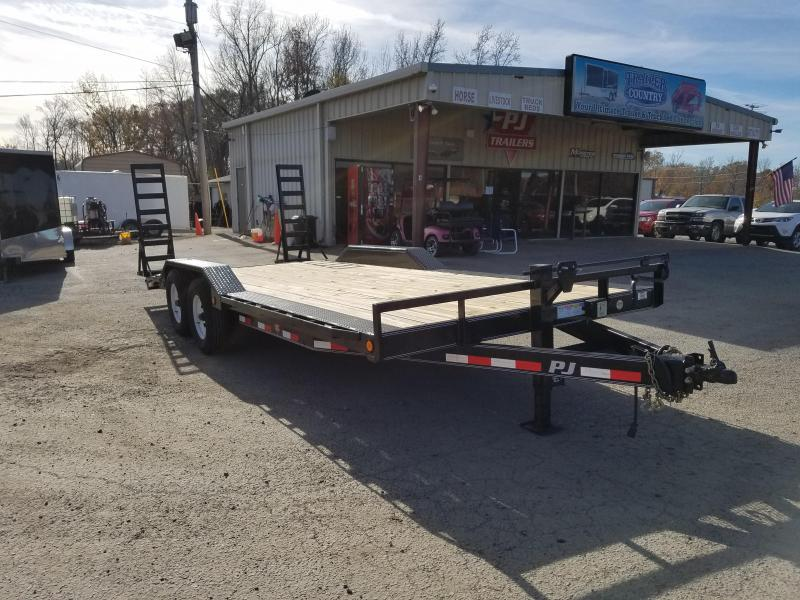 102x20 PJ Superwide-7K Axles-Drive over Fenders-Dovetail-Fold up Ramps