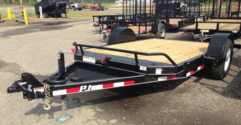 13' PJ Single Axle Heavy Duty Tilt Trailer