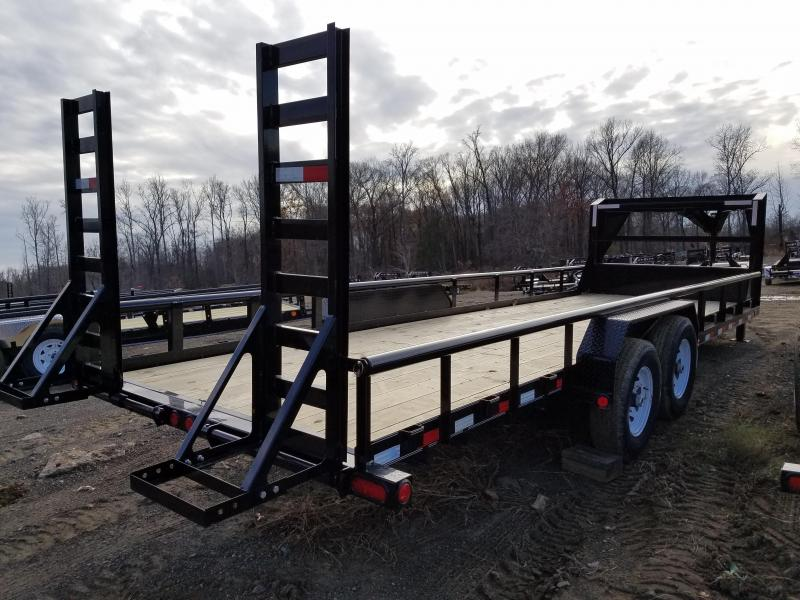 83x24 PJ GN Angle Pipetop-7K axles Straight Deck Fold up Ramps