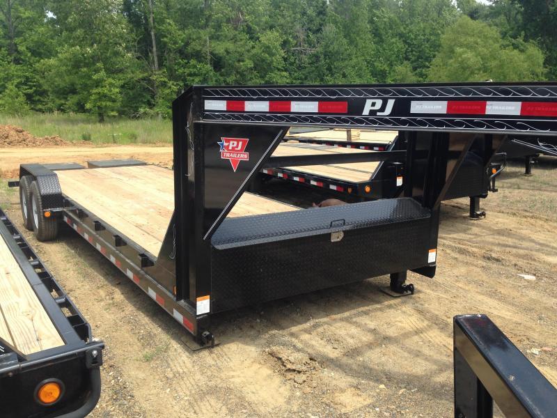 83x24 PJ Gooseneck Equipment Trailer-Monster Ramps