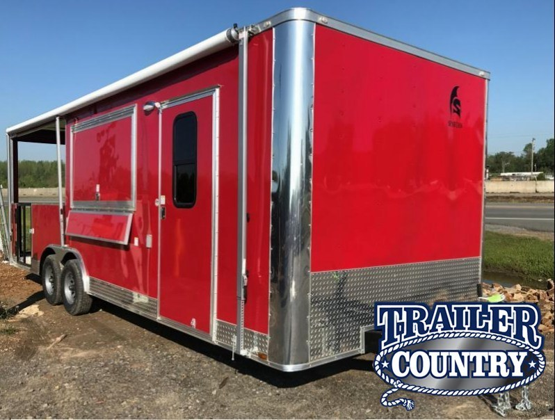 8.5x24 BBQ Concession Food Vending Trailer with Porch-CLEARANCE