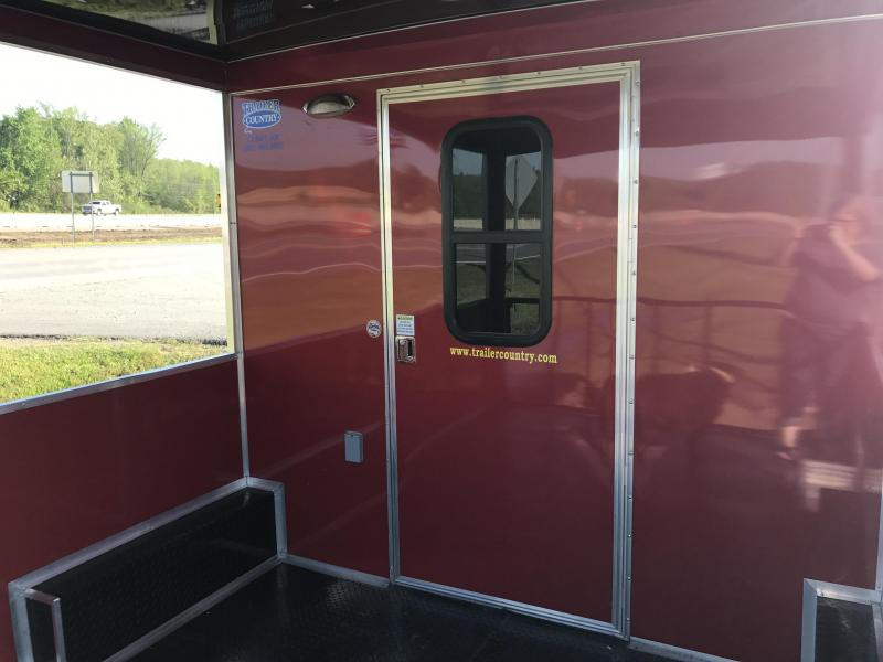 8.5x24 BBQ Concession Food Vending Trailer with Porch