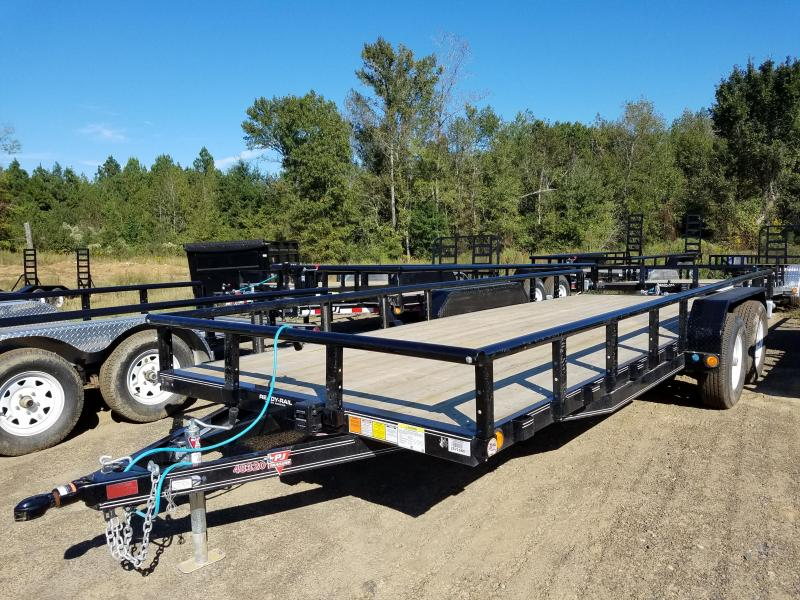 83x20 PJ Tandem Axle Utility Trailer 5200lb Axles-Rear Ramps