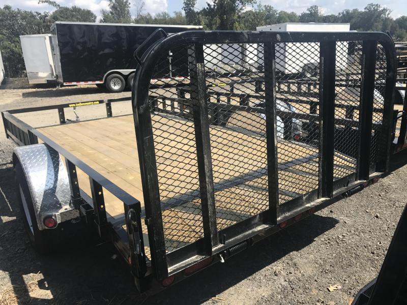 77x12 PJ Utility Trailer Dovetail-Rear Gate-Side Ramps