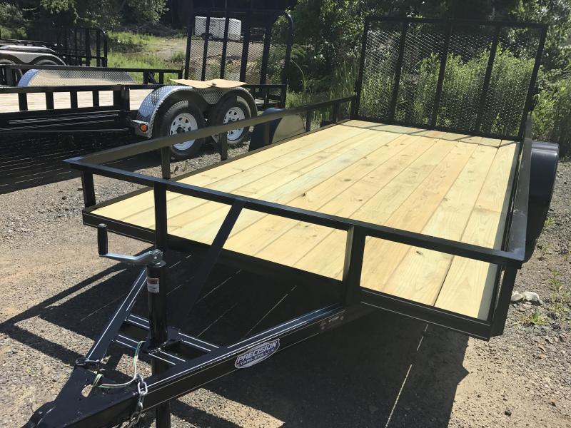 77x14 Precision Utility Trailer-Rear Gate