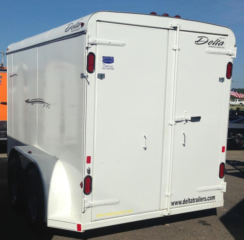 6x12 Delta Steel Cargo Trailer-Double Doors-CLEARANCE & 6x12 Delta Steel Cargo Trailer-Double Doors-CLEARANCE | Trailer ...