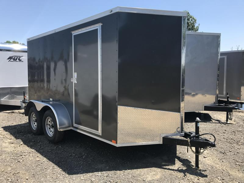 6x12 Tandem Axle Enclosed Cargo Trailer-Charcoal