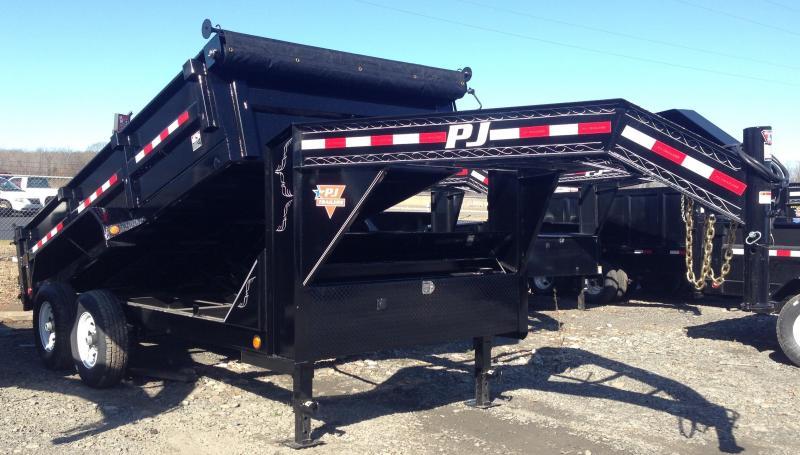 83x14 PJ Gooseneck Dump Trailer-Tarp Included