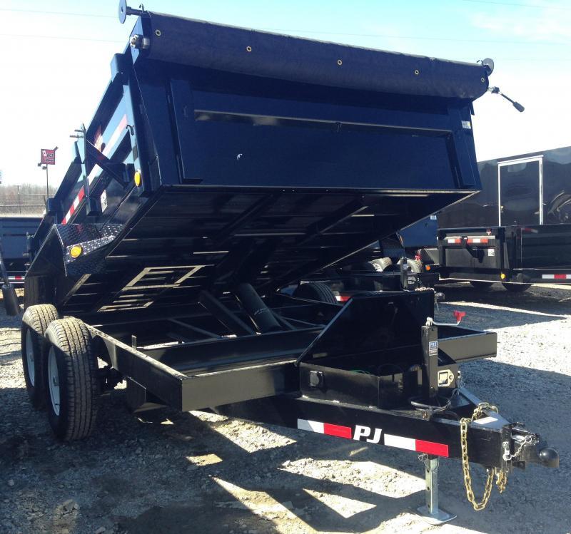 83x12 PJ Dump Trailer-Scissor Lift Tarp Included