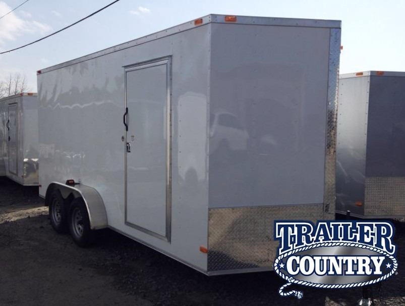 7x16 Enclosed Cargo Trailer-Ramp Door-CLEARANCE