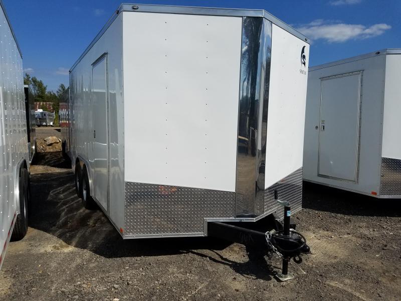 8.5x16 Enclosed Cargo Trailer-Ramp Door-7' height
