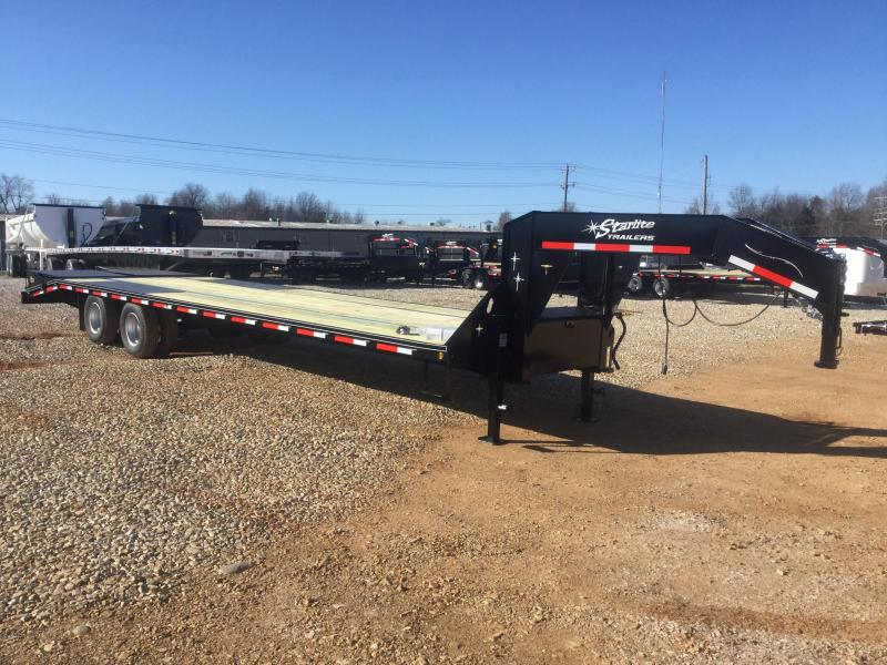 2017 Starlite Trailers 32TDGN-LP Flatbed Trailer