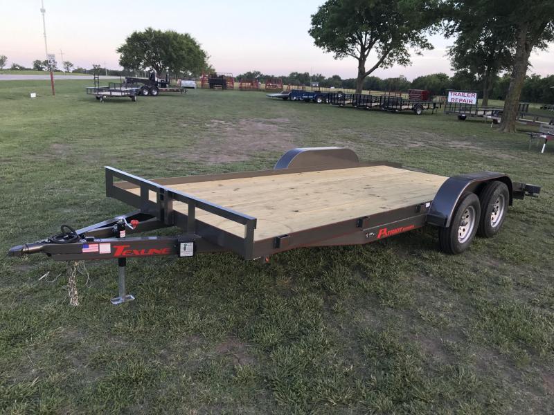 2017 TexLine Flatbed Car Hauler Car / Racing Trailer