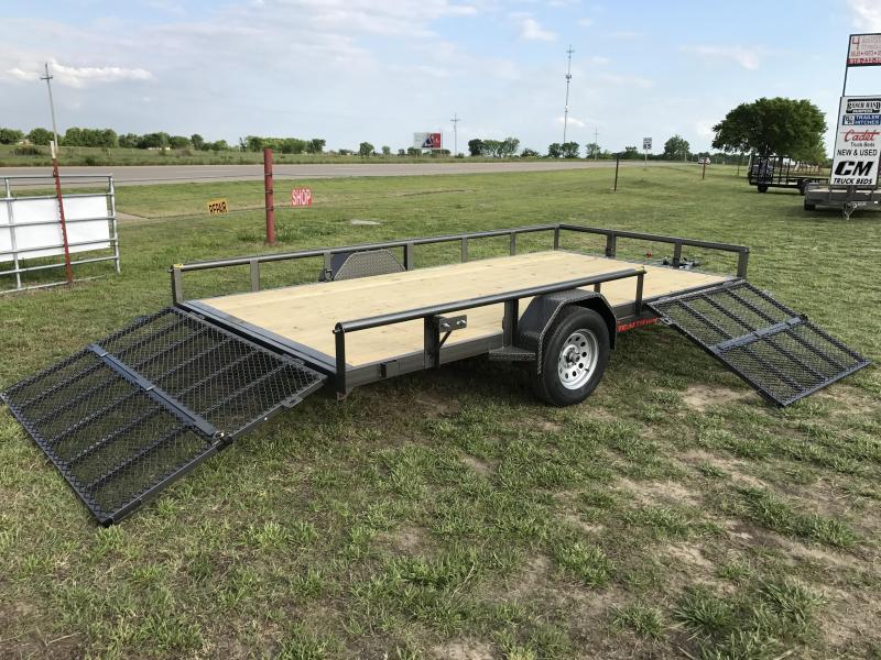 2017 TexLine 83x14ft Stealth Utility Trailer