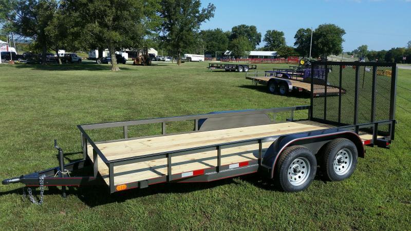 77x16ft utility/landscape/lawn trailer Flatbed Trailer