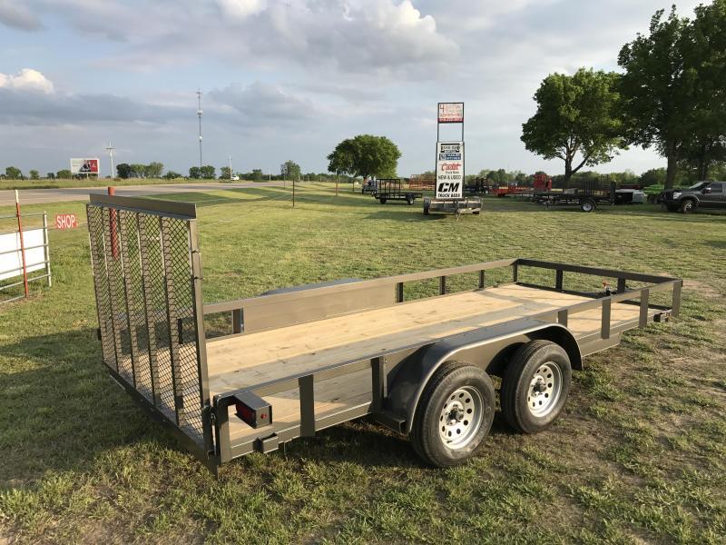 2017 TexLine  77x16ft utility/landscape/lawn trailer