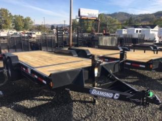 """2018 Diamond C 82""""x20 Split Deck Tilt Flatbed Trailer J1193852"""