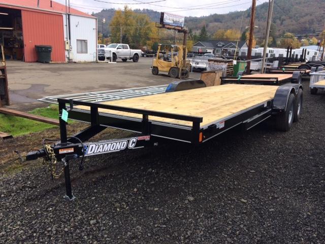 "2018 Diamond C 83""x20 Car Hauler Flatbed Trailer J1194345"