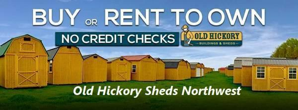 2018 Old Hickory Shed 8x12 Side Lofted Barn T3106