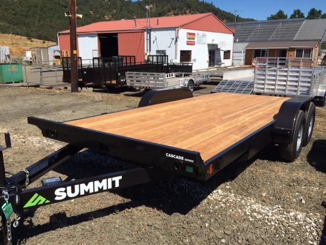 2017 Summit 7x16 Flatbed Trailer H1001557