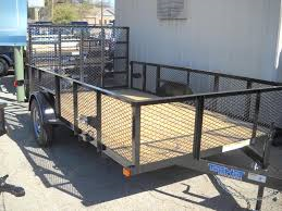 2018 Top Hat Trailers 7X12 24in Expanded Metal Sides Utility Trailer