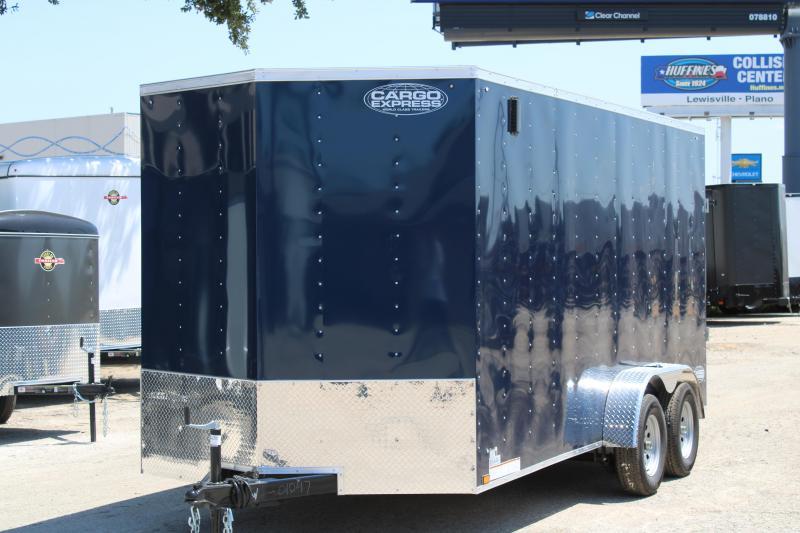 2020 Cargo Express 7x16 Enclosed Cargo Trailer W/ Rear Ramp