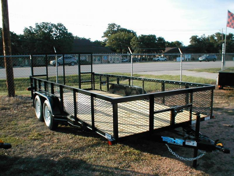 2018 Top Hat Trailers 7X16 W/ 24in Expanded Metal Sides Utility Trailer